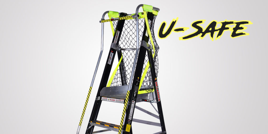 U-safe Fibreglass Platform Ladder - Dr Ladder